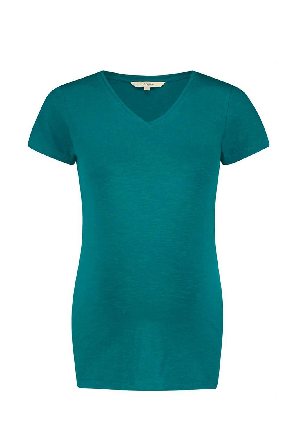 Noppies zwangerschap T-shirt Orlean met V-hals, Groenblauw