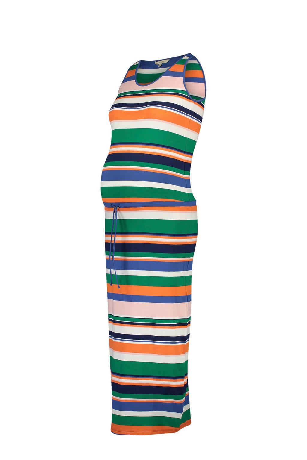 Noppies zwangerschap maxijurk Prisca, Roze/ groen/ oranje