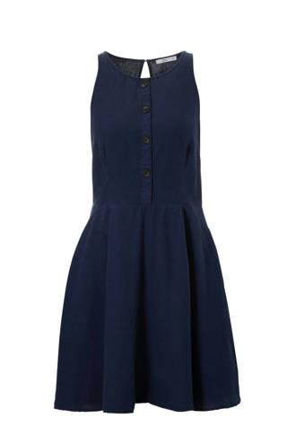 edc Women jurk met knopen donkerblauw