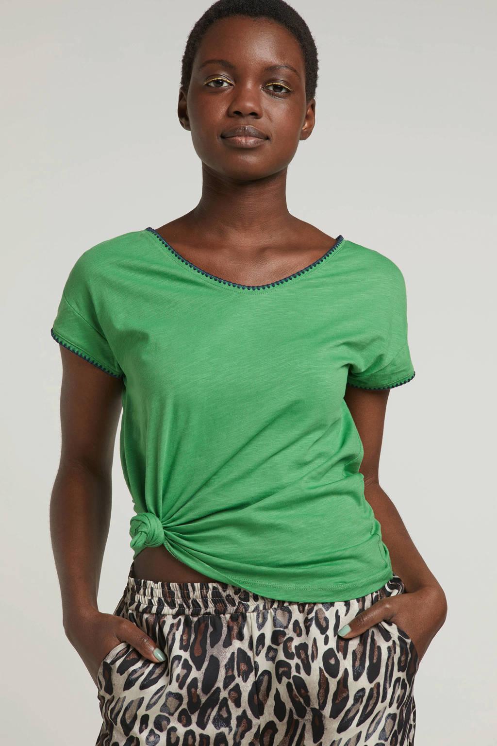 edc Women T-shirt groen, Groen/donkerblauw