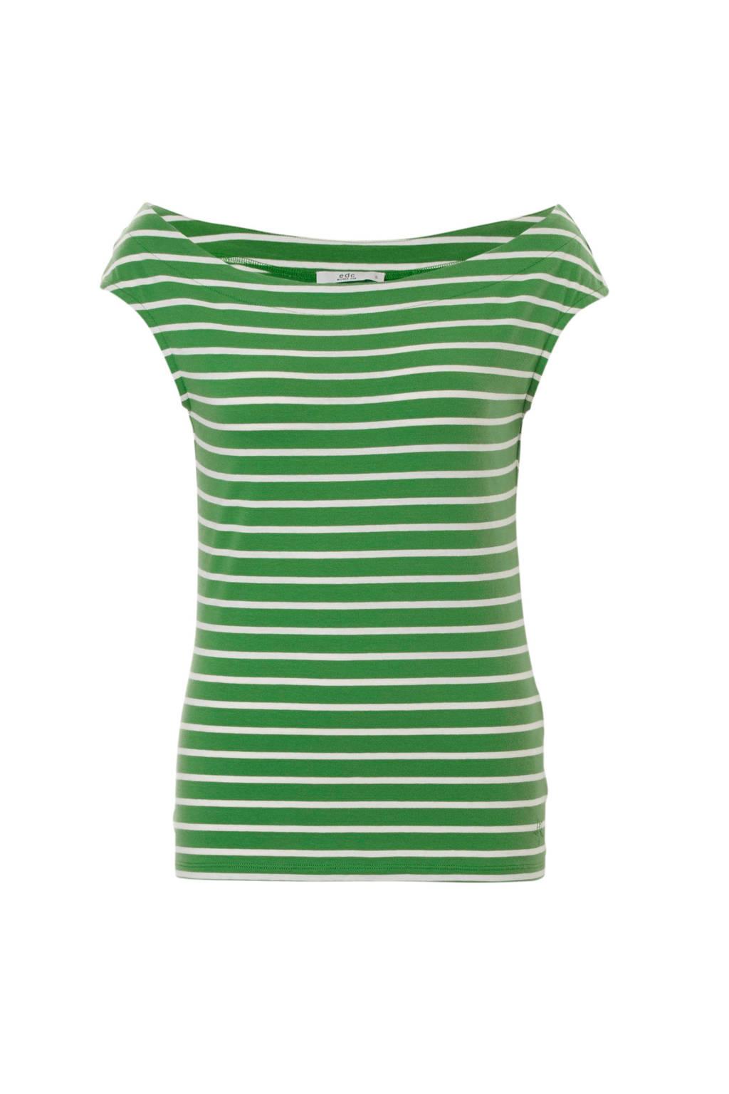 Shoulder Groen Top Off Espritedc Women Gestreepte wxqz7AnU81