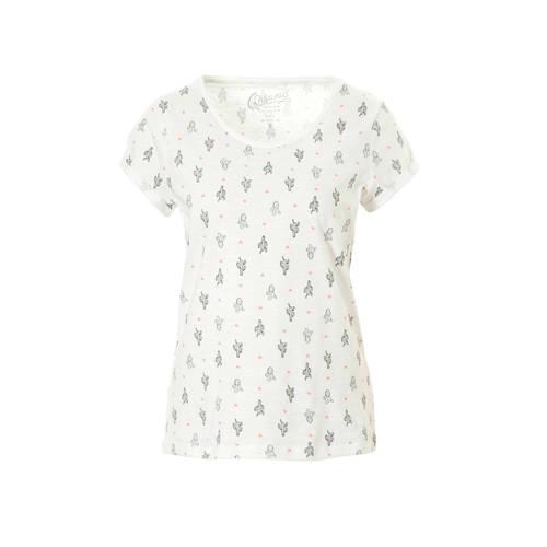 edc Women T-shirt met all over print wit kopen