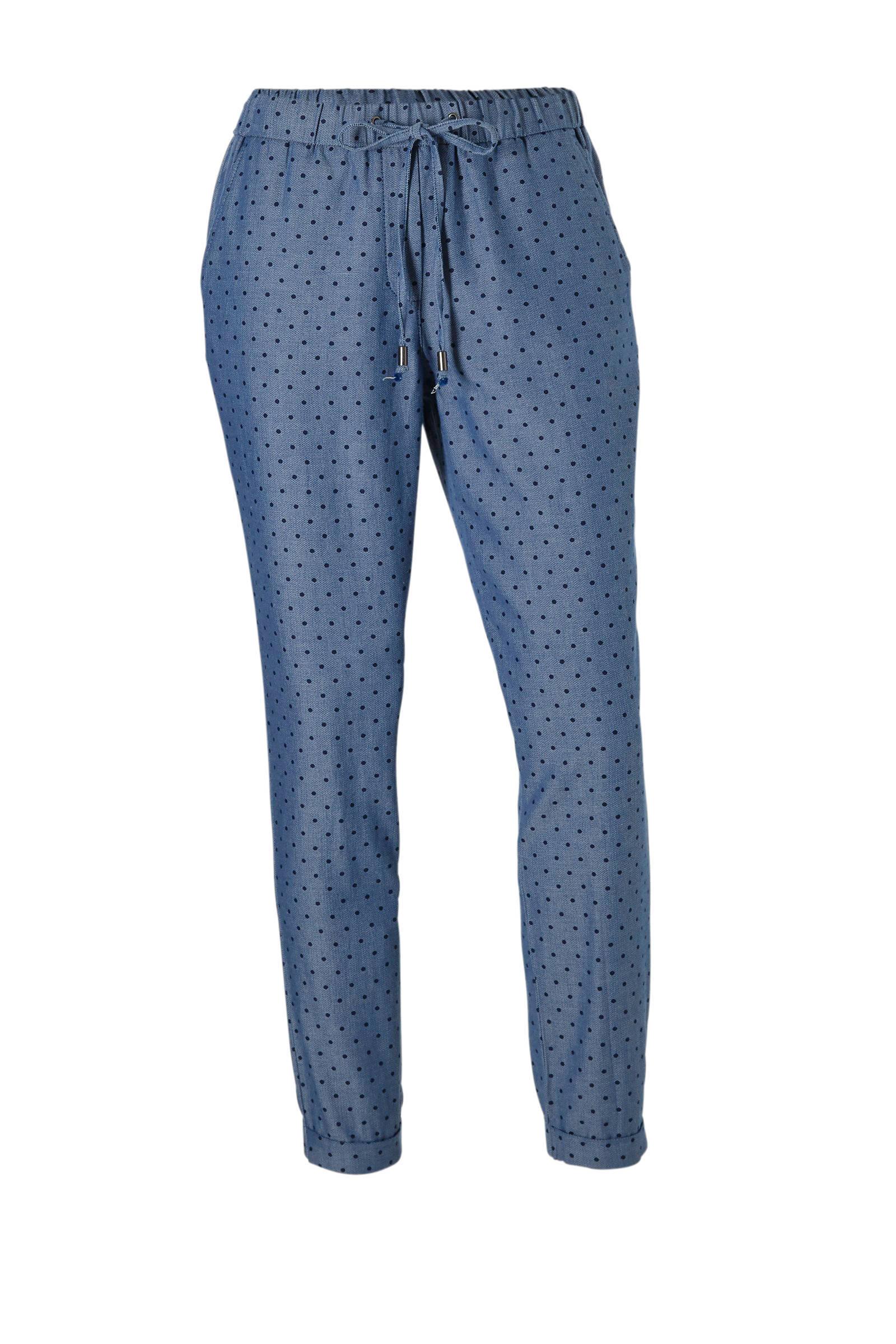 blauwe pantalon dames