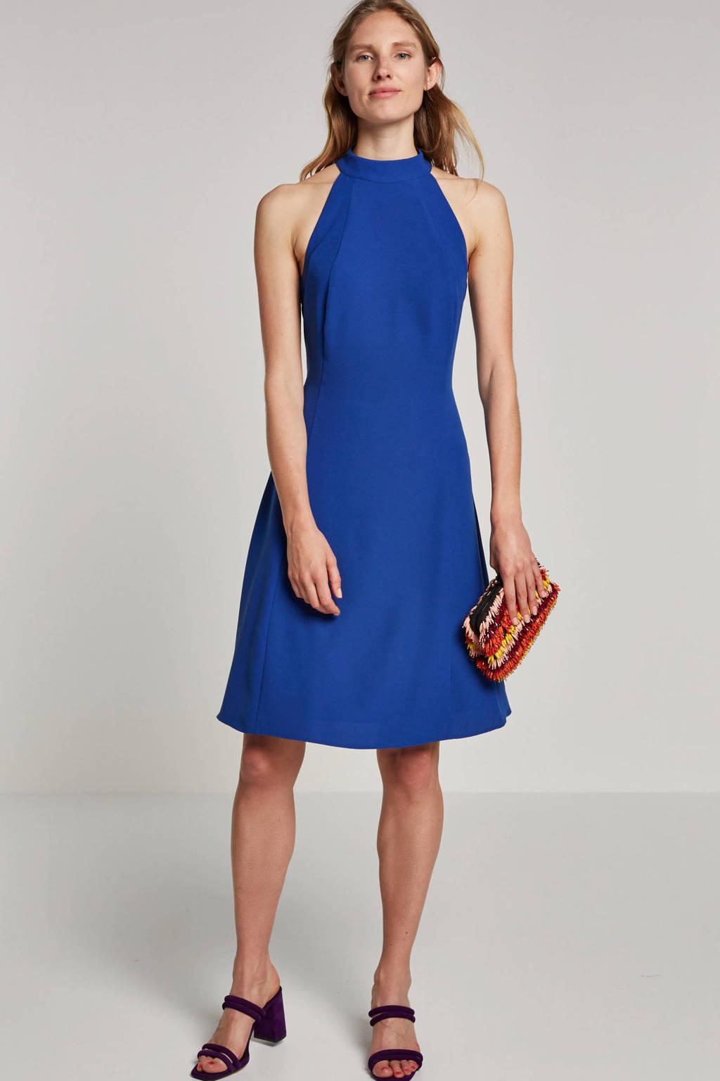ESPRIT Women Collection A-lijn jurk met sierbandjes blauw, Blauw