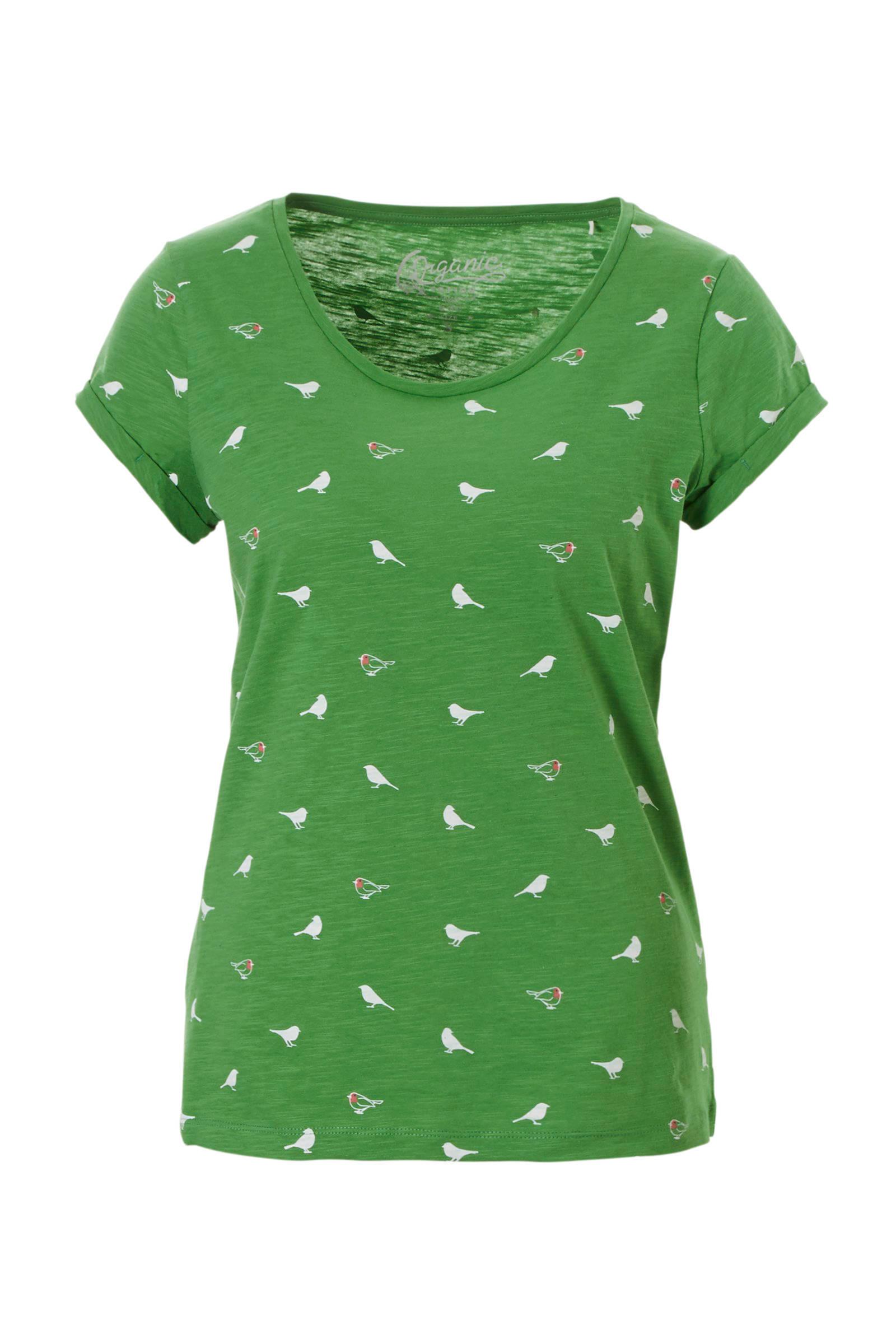 7cf3c555c20 ESPRIT edc Women T-shirt met all over print groen