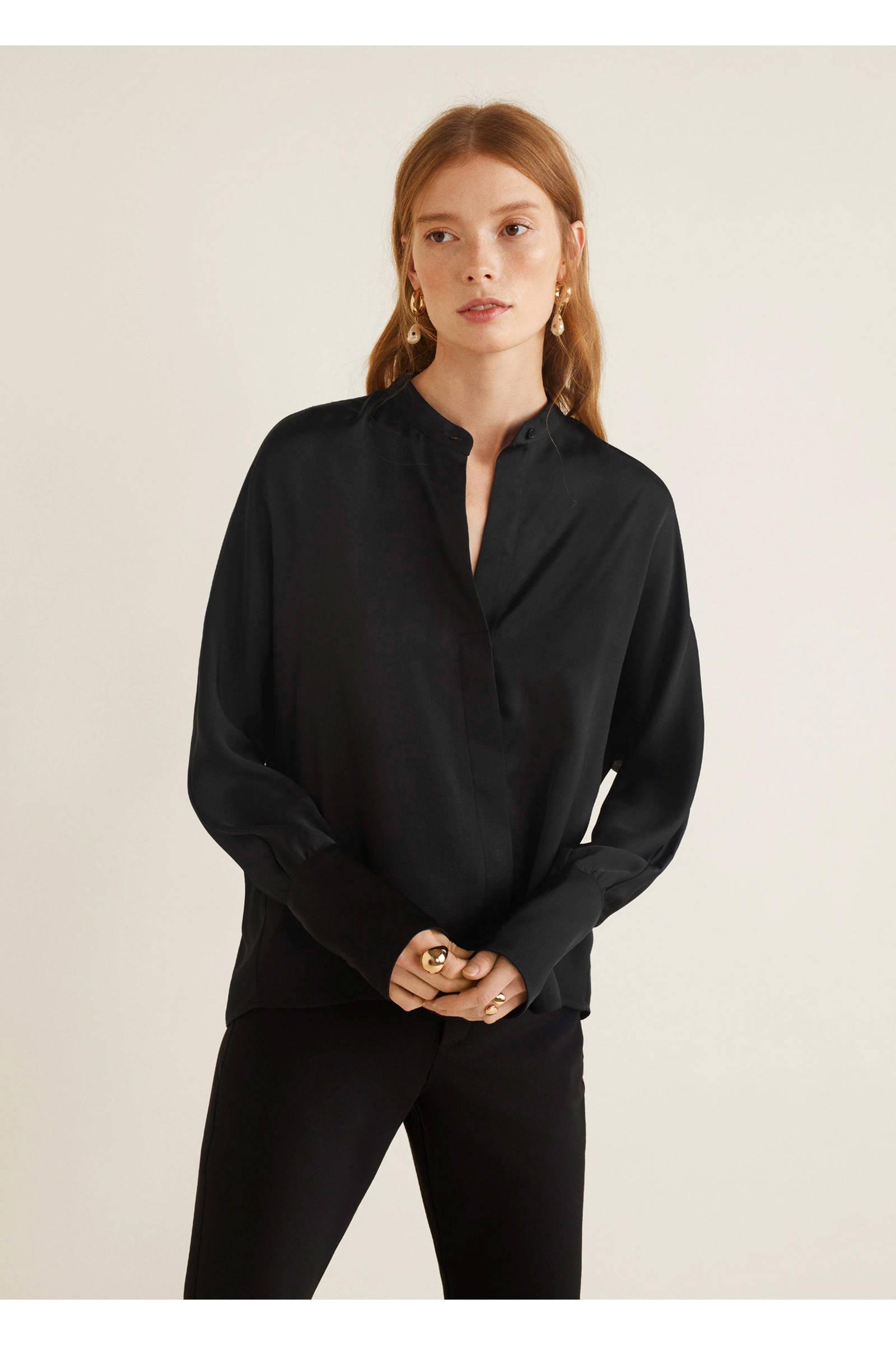 Mango Mango blouse Mango Mango blouse blouse zwart zwart zwart blouse 46qqrwt