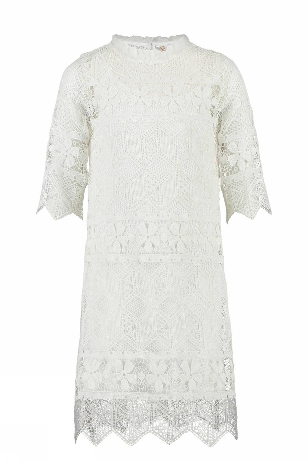 CKS KIDS kanten jurk Gaelle wit, Gebroken wit