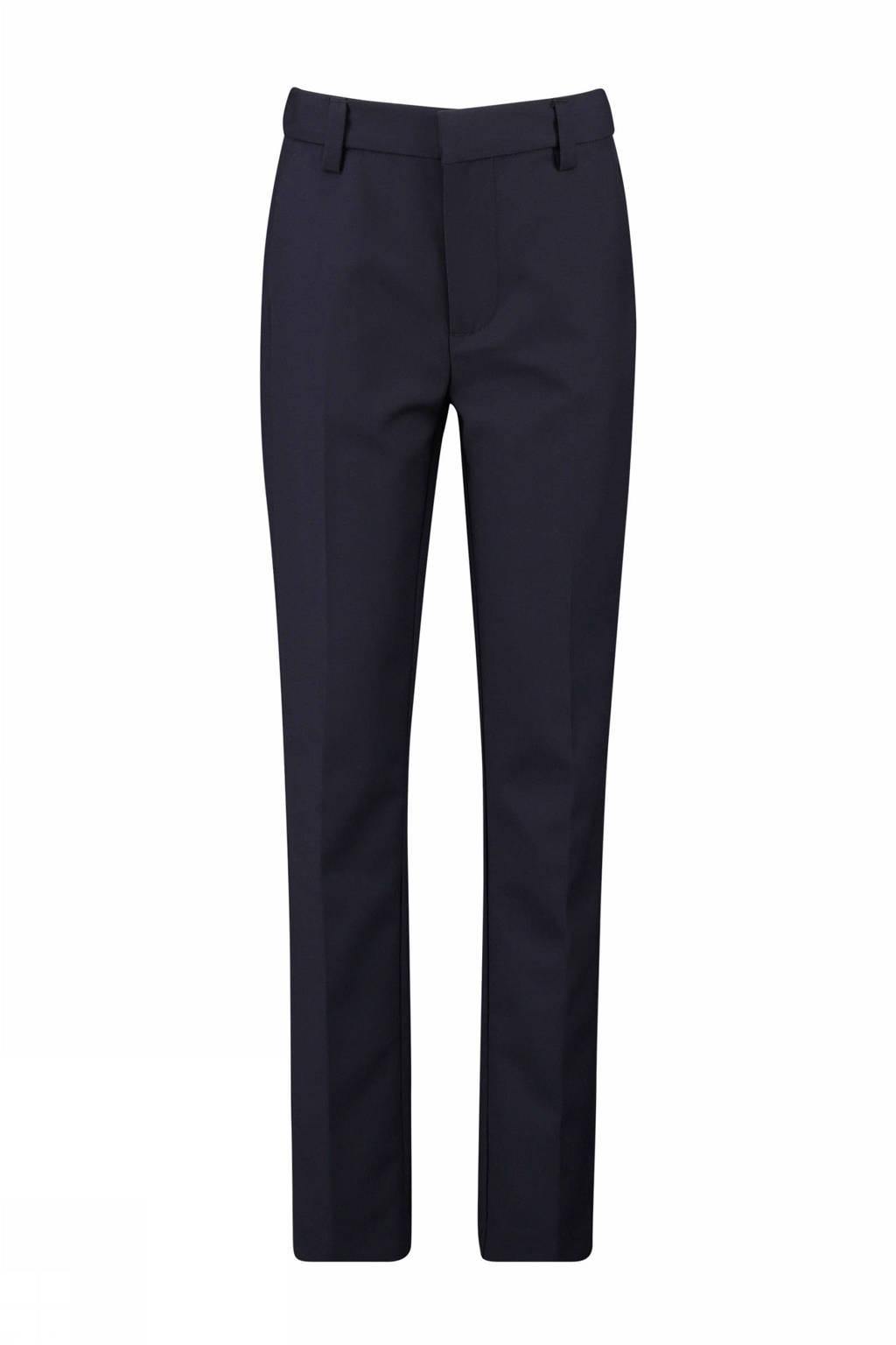 CKS KIDS straight fit pantalon Burling blauw, Donkerblauw