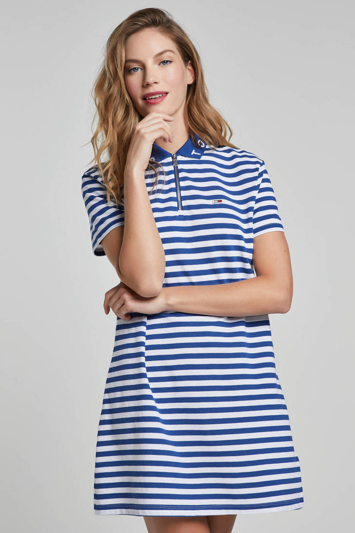 polo Jeans jurk Tommy polo gesrteepte Tommy Tommy jurk gesrteepte Jeans 1aqvCC