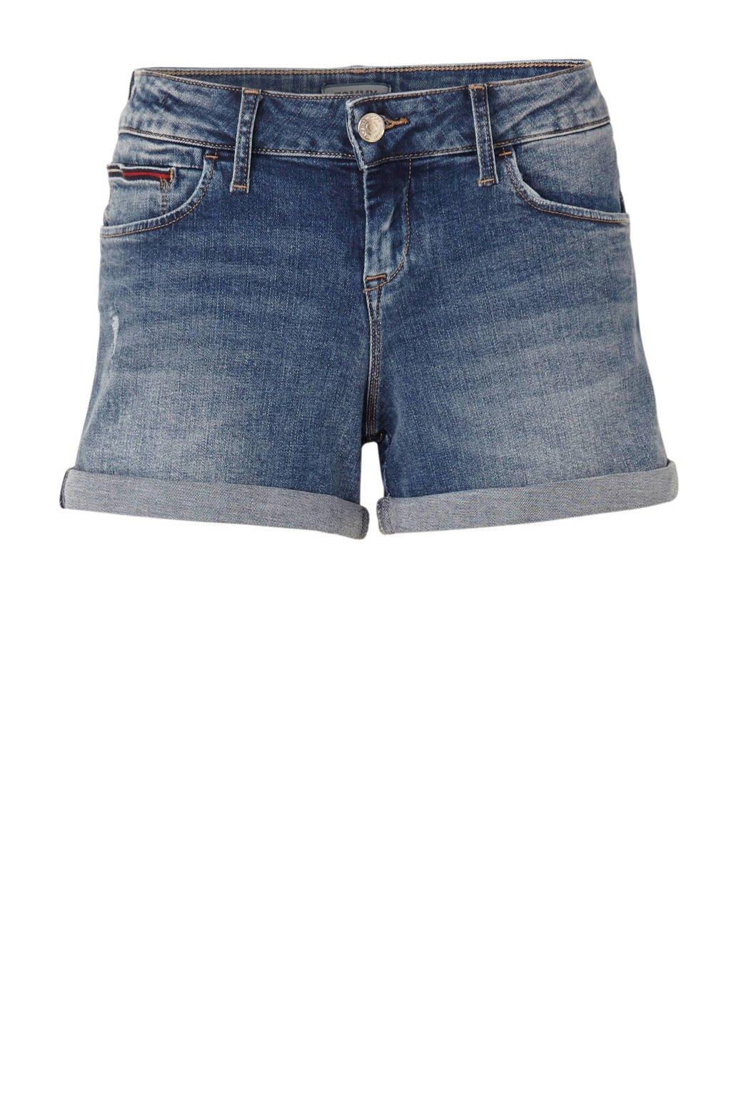 Tommy Jeans slim fit jeans short, Blauw