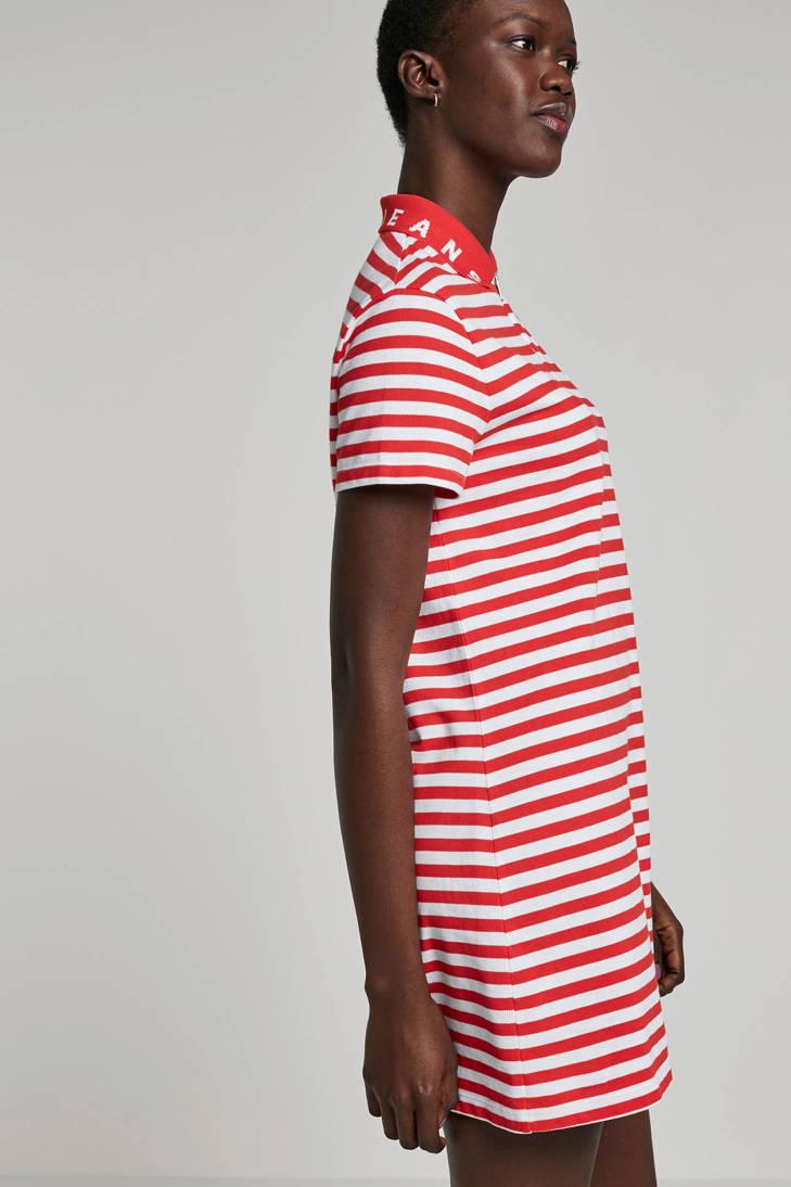 gestreepte Tommy gestreepte jurk jurk rood Jeans Tommy rood Jeans gestreepte Jeans Tommy XqO1wTU