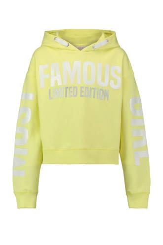 hoodie met tekst geel