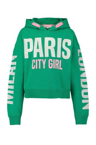 hoodie met tekst groen