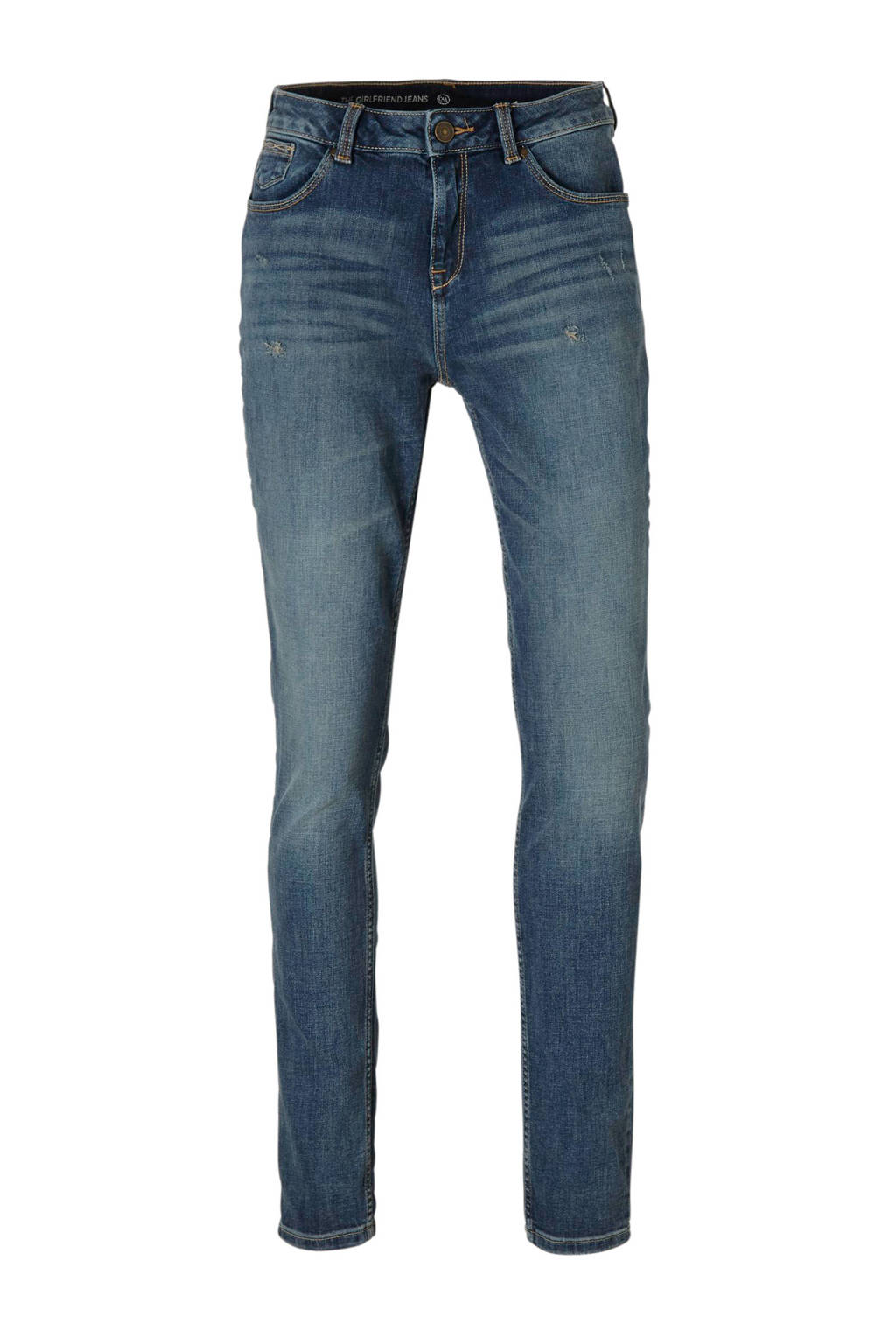 C&A The Denim girlfriend jeans met slijtage details, Stonewashed