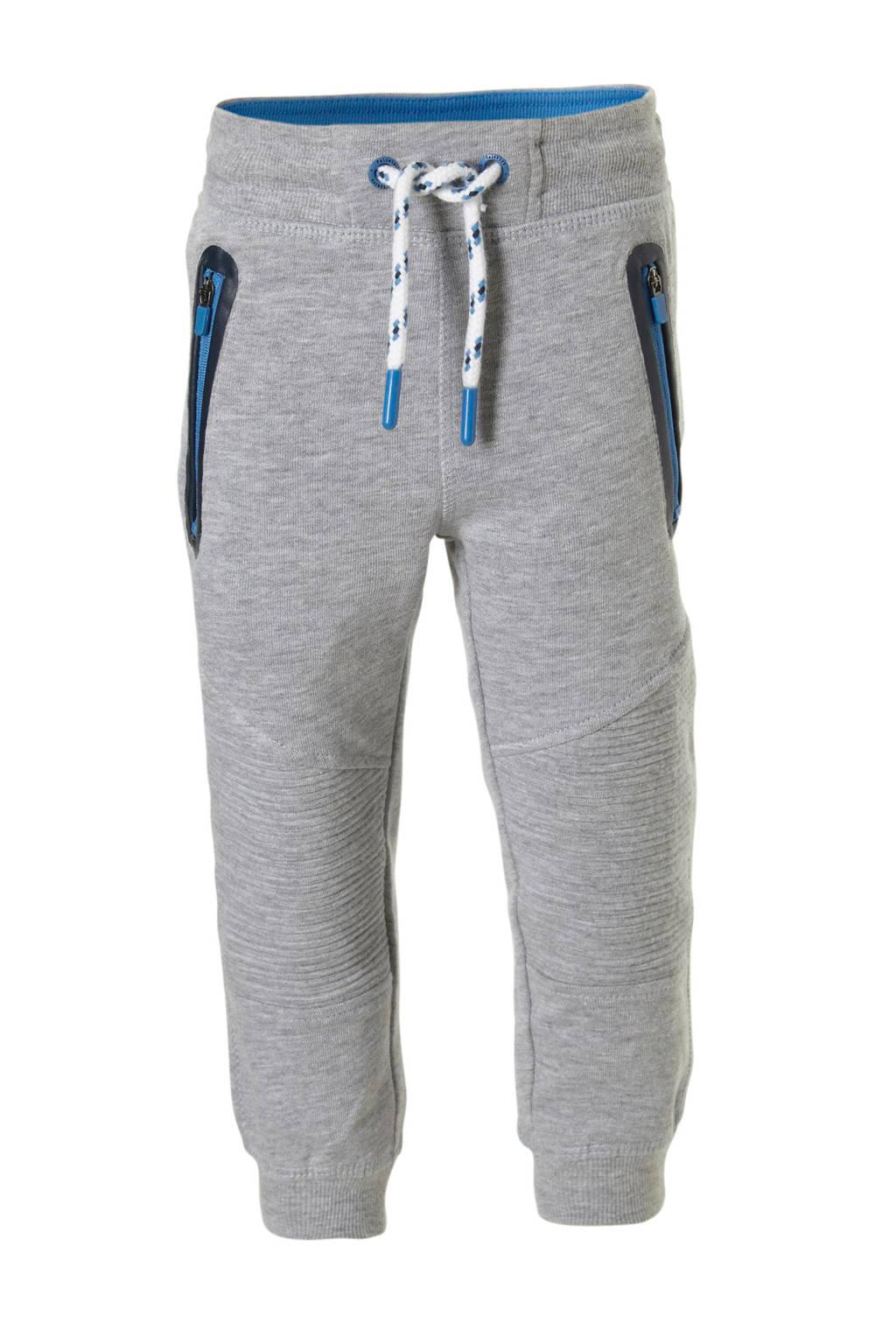 C&A Palomino   joggingbroek met ribbels grijs, Grijs melange