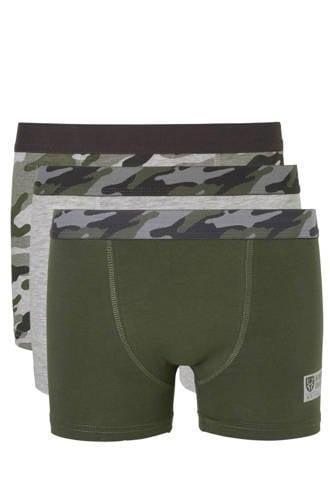 Here & There   boxershort met camouflageprint - set van 3