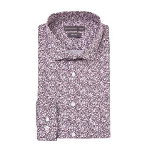 C&A Angelo Litrico slim fit overhemd met print wit