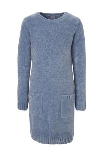 Here & There chenille jurk blauw