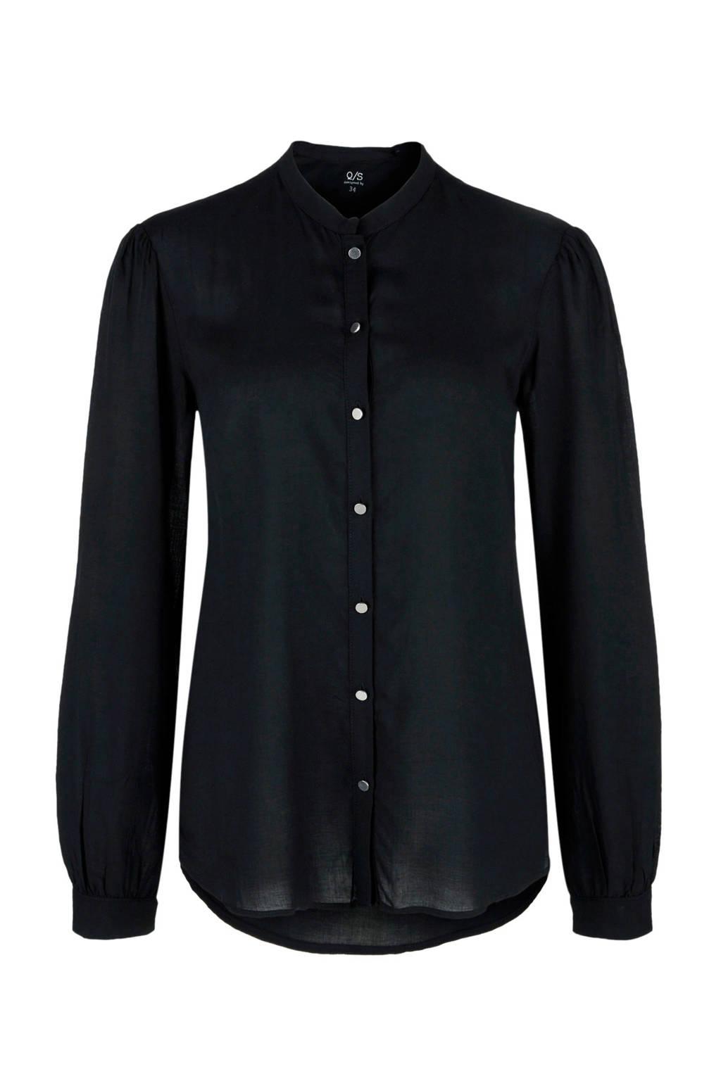 Q/S designed by blouse, Zwart