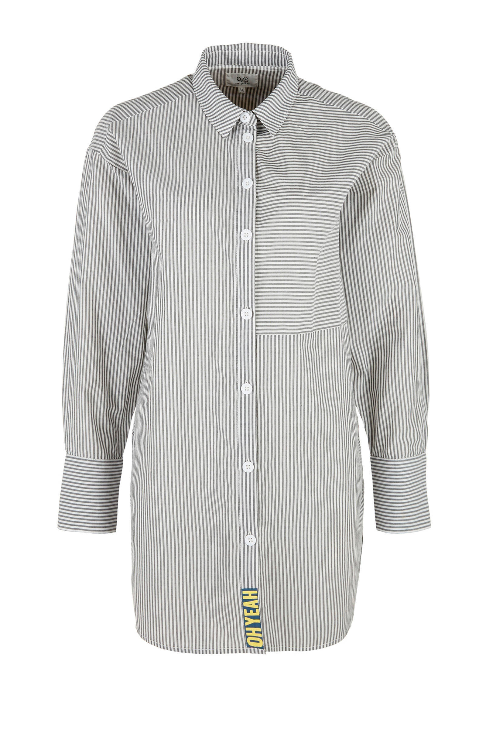 lange blouse zwart wit
