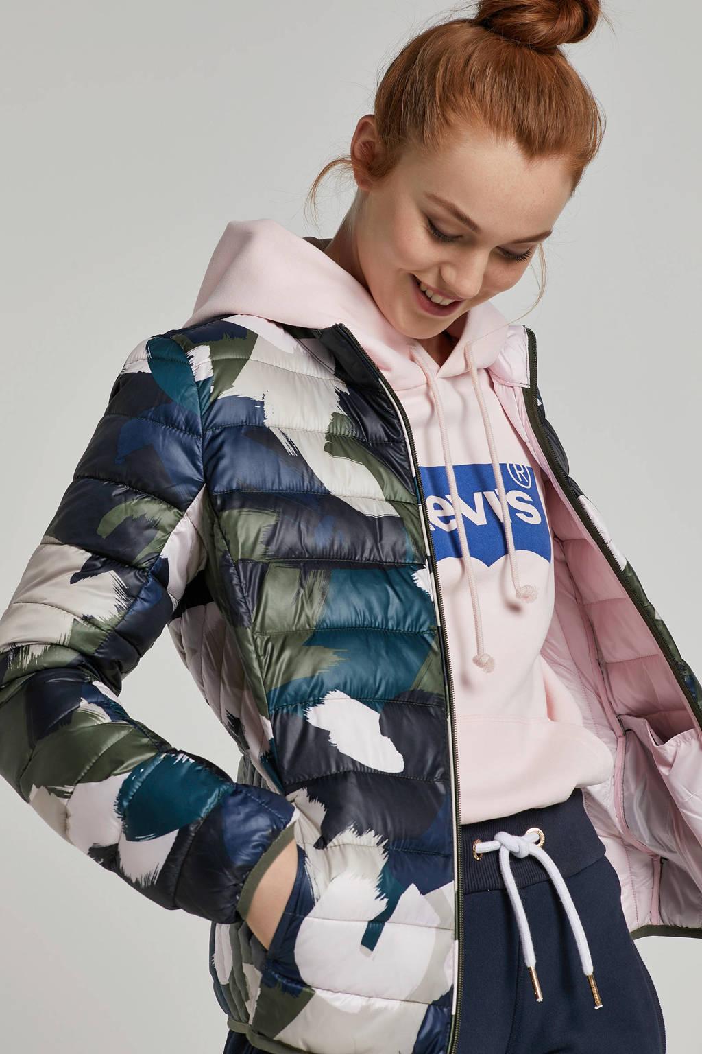Q/S designed by jas met all over print, Groen/roze/zwart