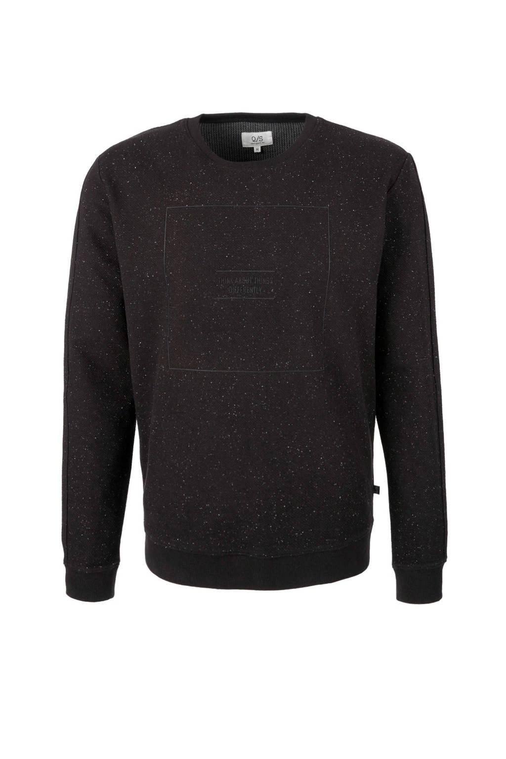 Q/S designed by sweater, Zwart