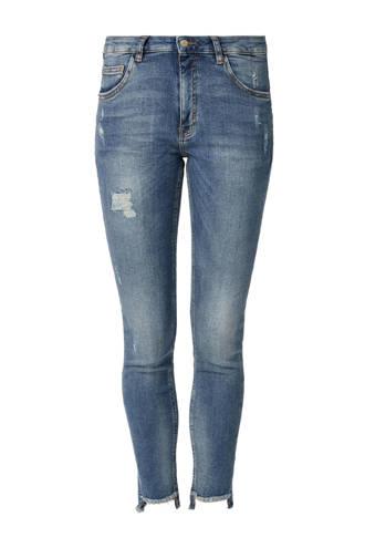 skinny jeans met slijtages details