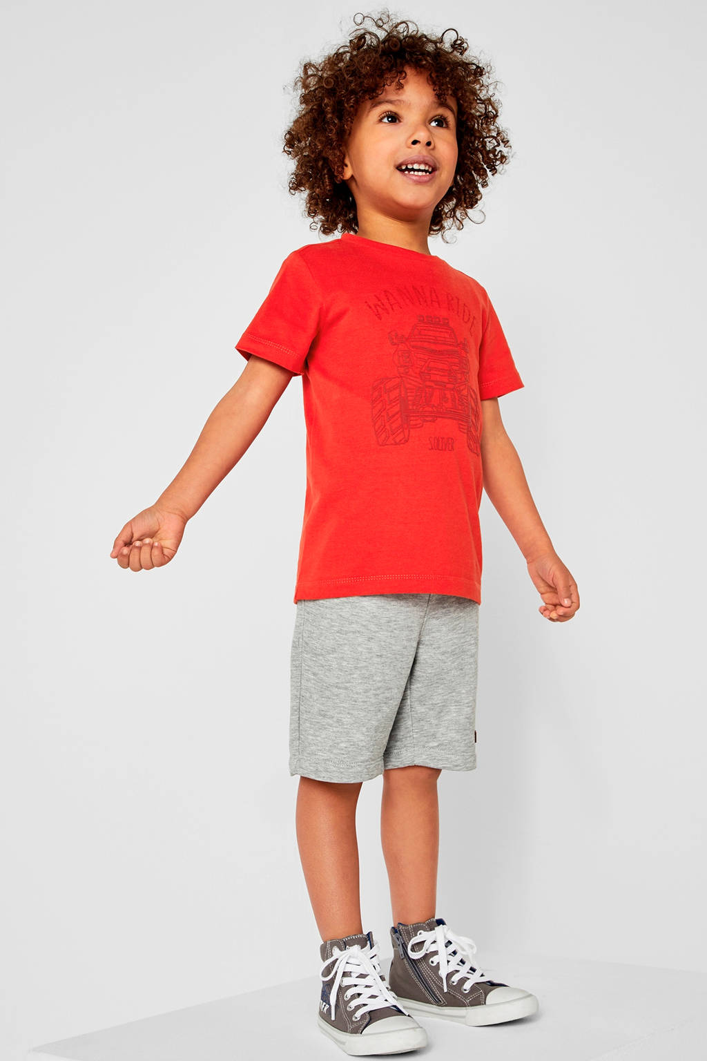 s.Oliver T-shirt met print rood, Rood