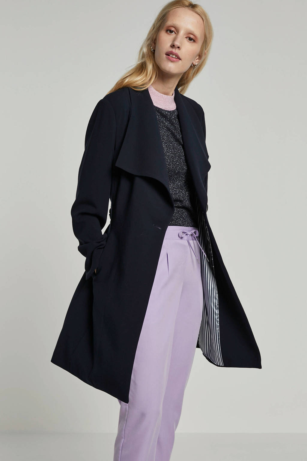 Giacomo jas met overslagkraag donkerblauw, Donkerblauw