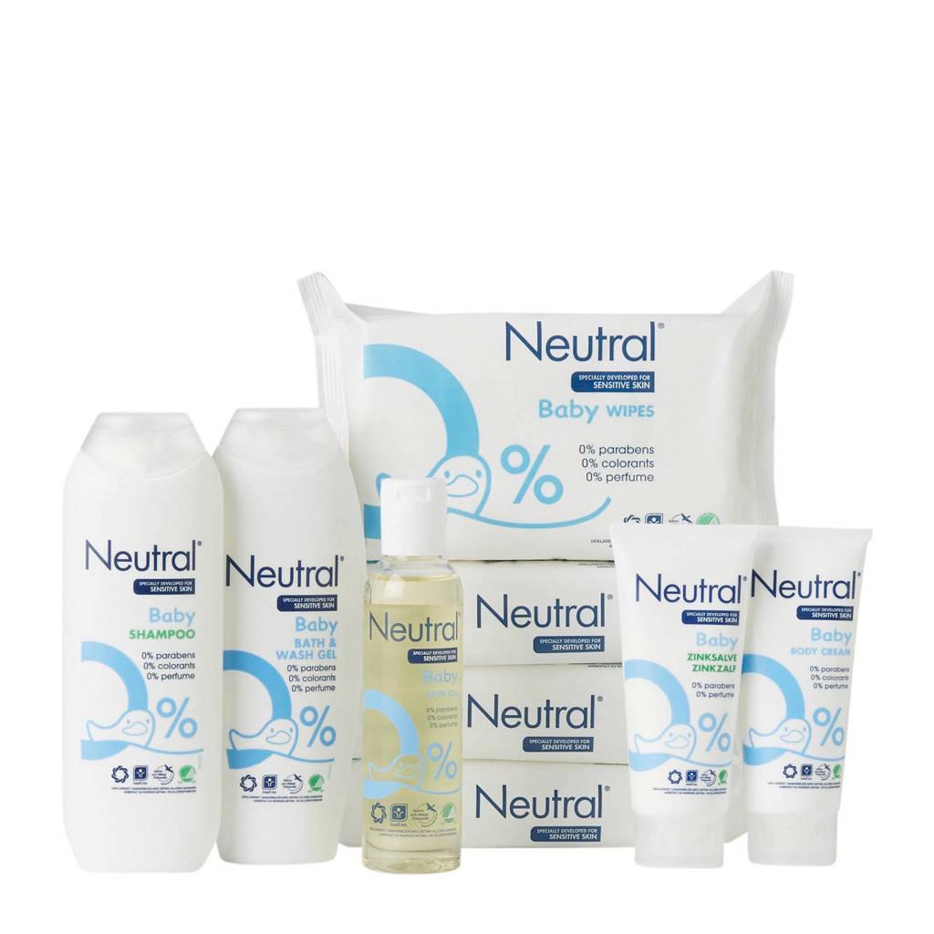 Neutral Baby pakket met babydoekjes 9-delig - parfumvrij