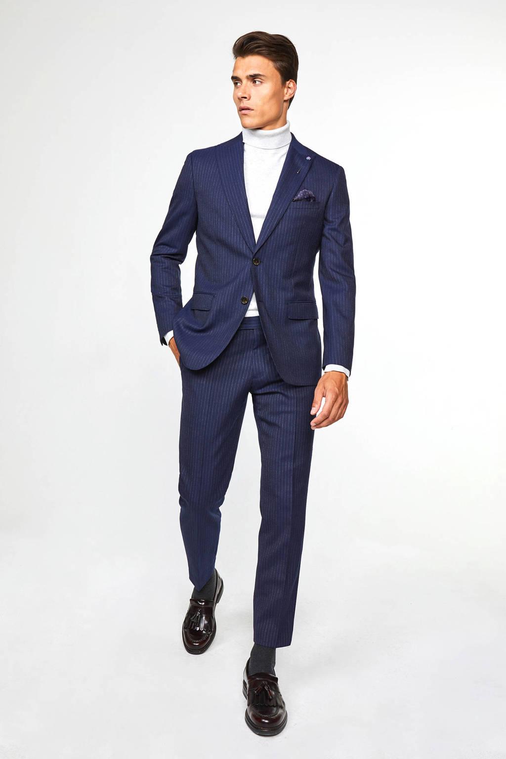 WE Fashion slim fit colbert met krijtstreep royal navy, Royal Navy