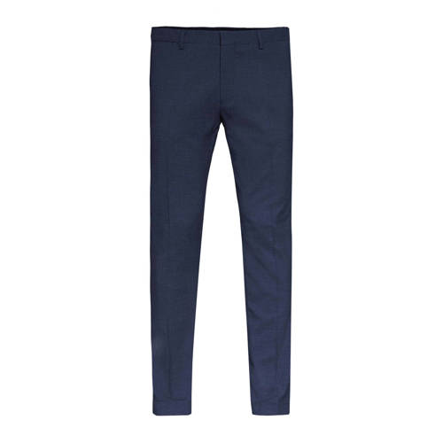 WE Fashion regular fit pantalon met wol en all ove