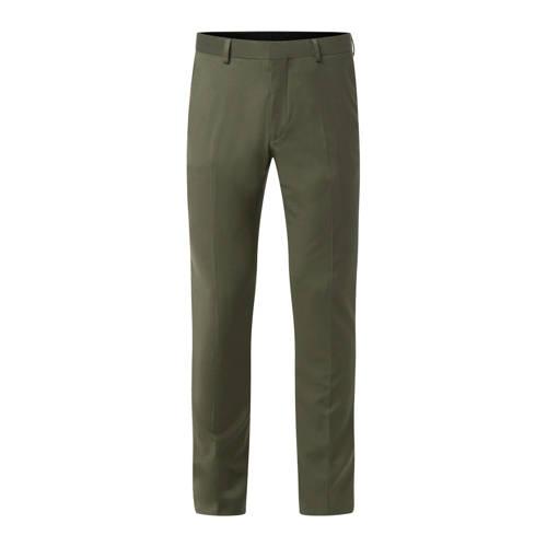 WE Fashion slim fit pantalon olive