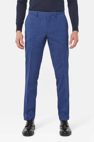 slim fit pantalon blauw