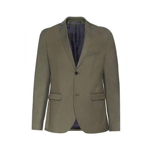 WE Fashion slim fit colbert olive