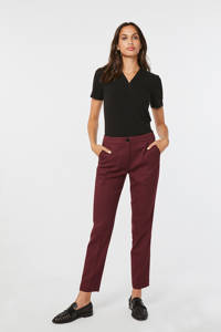 WE Fashion slim fit pantalon rood, Rood