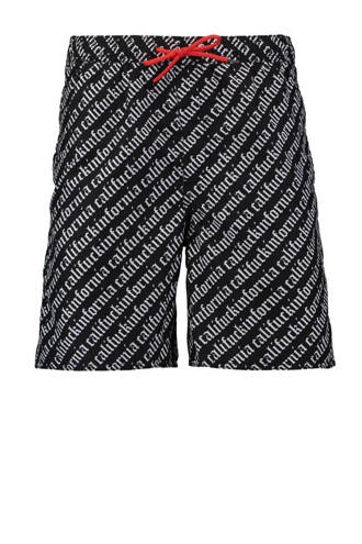 zwemshort all-over print met tekst
