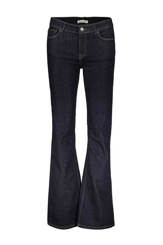 flared fit jeans donkerblauw