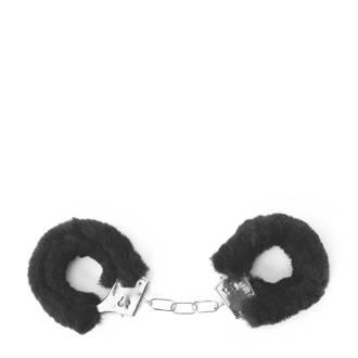 Private handboeien fake fur zwart