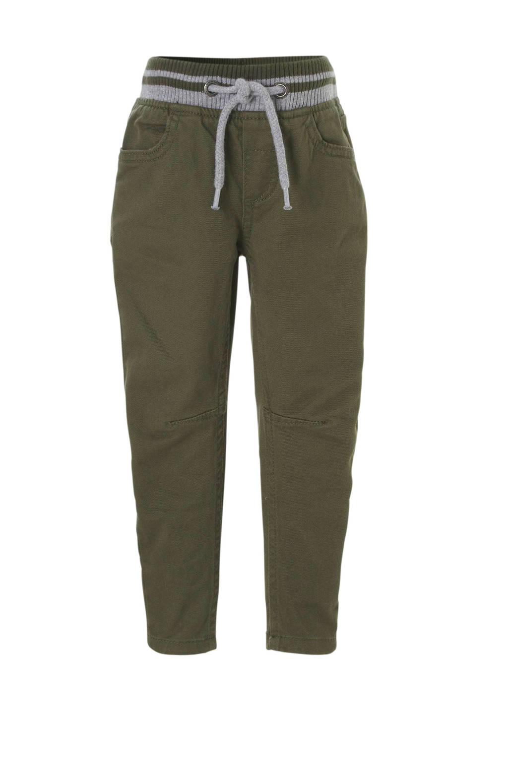 C&A Palomino tapered fit broek groen, Olijfgroen