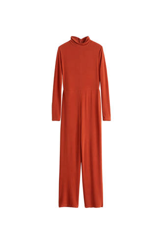 slim fit jumpsuit oranje