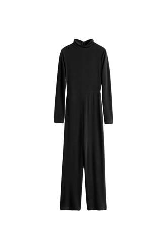 slim fit jumpsuit zwart