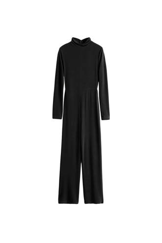 slim fit jumpsuit zwart