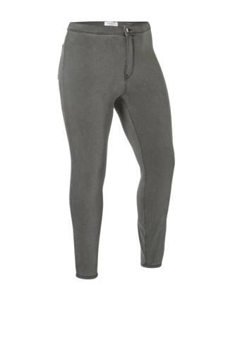 high waist skinny fit jegging grijs