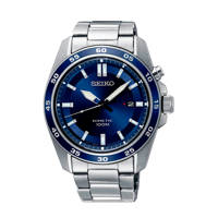 Seiko horloge  SKA783P1 zilver, Zilverkleurig