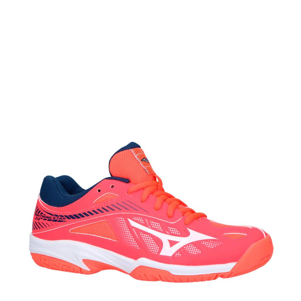 Mizuno kids Lightning Star Z4 indoor sportschoenen, Koraalrood/roze