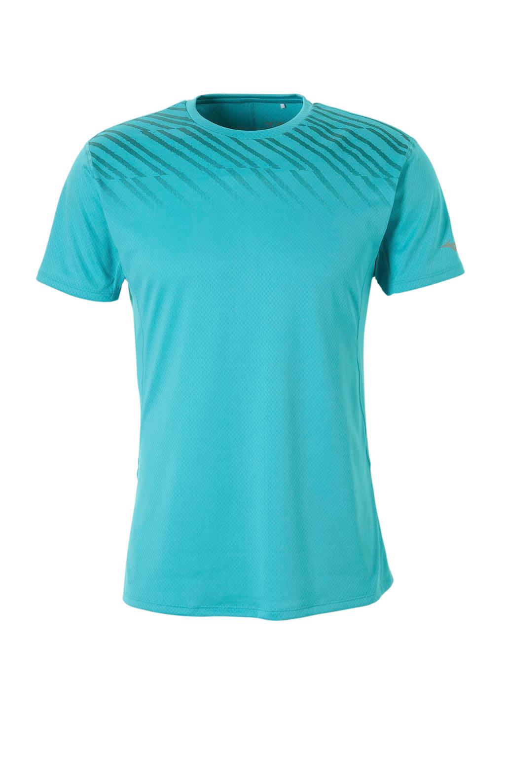 Mizuno   sport T-shirt blauw, Blauw