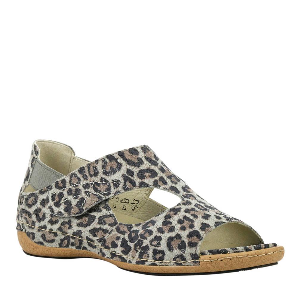 Waldlaufer sandalen met panterprint, Multi