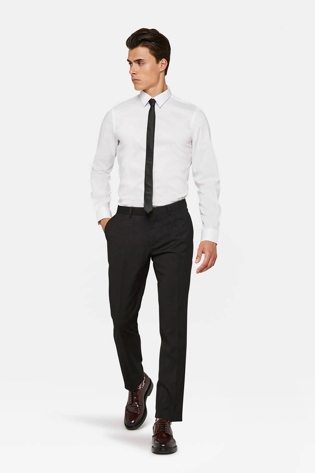 WE Fashion regular fit pantalon zwart, Zwart
