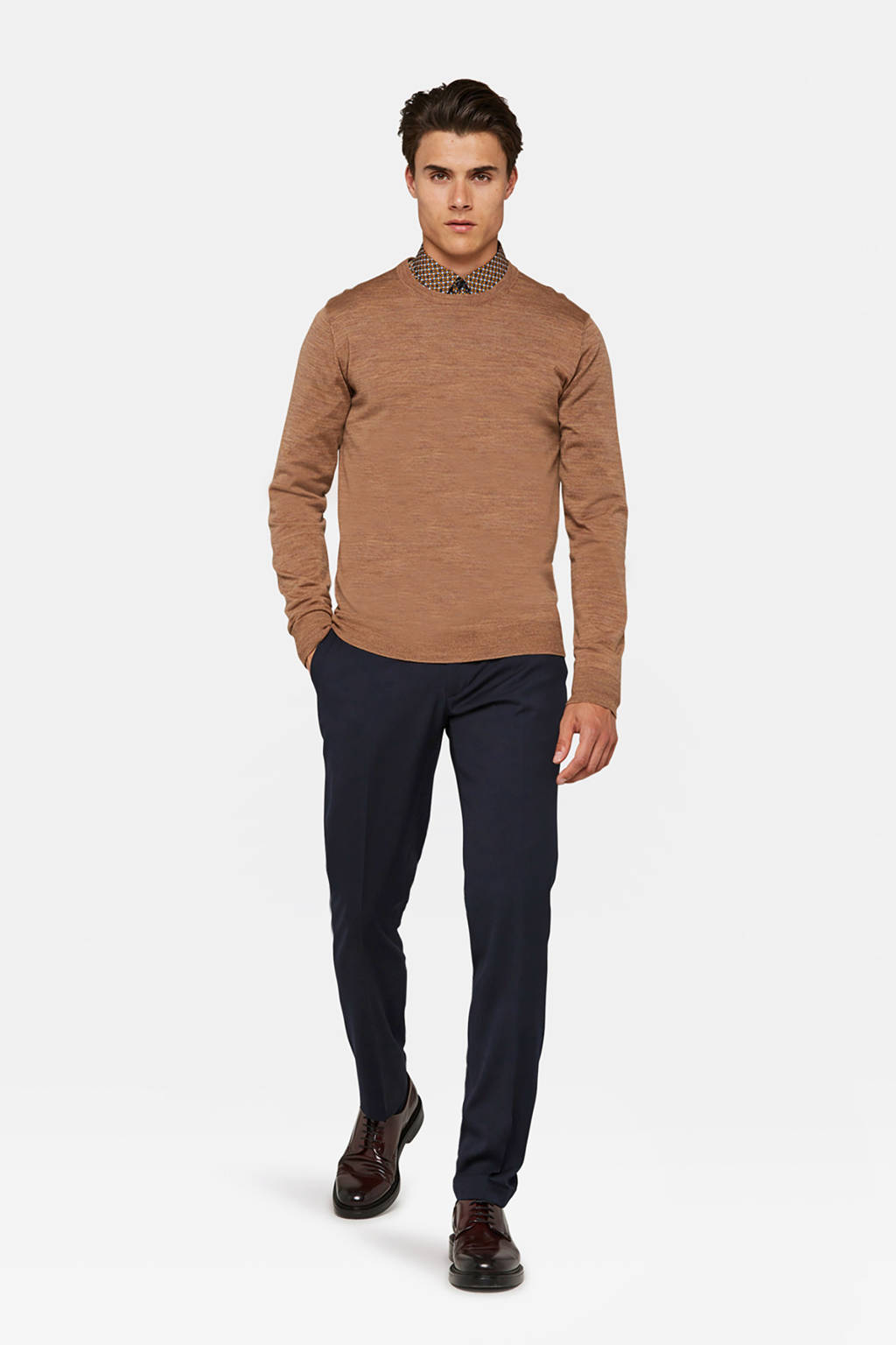 WE Fashion regular fit pantalon donkerblauw, Donkerblauw
